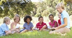 aprendizagem, crianças, ar livre