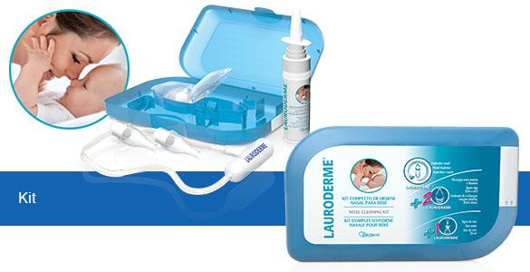 Lauroderme Kit Completo de Higiene Nasal para Bebé